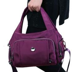 Harga Di Tas Kanvas Mengkilap Messenger Tas Fashion Kasual Tas Tas Yang Mendalam Ungu Terbaik