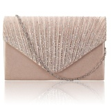 Diamante Women Evening Bag Satin Bridal Ladies Clutch Party Prom Envelope Bag Gold Intl Di Tiongkok