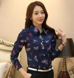 Harga Korea Sifon Cetak Perempuan Lengan Pendek Slim Bawahan Atasan 1616 Lengan Panjang Baju Wanita Baju Atasan Kemeja Wanita Yang Murah Dan Bagus