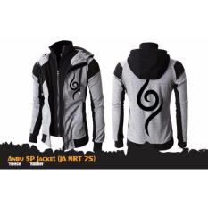 Digizone Jaket Anime Hoodie Double Zipper Naruto Anbu Ja Nrt 75 Best Seller Grey Black Diskon Indonesia