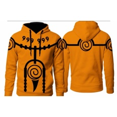 Digizone Jaket Anime Hoodie Naruto Mode Kyuubi (JA NRT 02) Best Seller - Orange