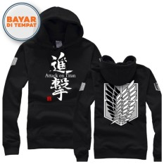 Toko Digizone Jaket Anime Hoodie Sweater Attack On Titan Ja Snk 02 Best Seller Black Murah Jawa Barat