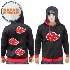 Spek Digizone Jaket Anime Hoodie Zipper Naruto Akatsuki Ja Nrt 04 Best Seller Black