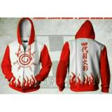 Kualitas Digizone Jaket Anime Hoodie Zipper Naruto Kyuubi Seal Ja Nrt 10 Best Seller White Red Digizone