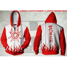 Jual Digizone Jaket Anime Hoodie Zipper Naruto Kyuubi Seal Ja Nrt 10 Best Seller White Red Baru