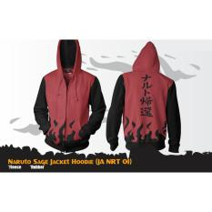 Spek Digizone Jaket Anime Hoodie Zipper Naruto Sage Ja Nrt 01 Best Seller Red Black Digizone