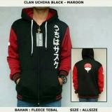 Obral Digizone Jaket Anime Hoodie Zipper Naruto Sasuke Clan Uchiha Ja Nrt 20 Best Seller Black Red Murah