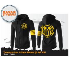 Digizone Jaket Anime Hoodie Zipper One Piece Trafalgar Law 4-Strip (JA OP 45) Best Seller - Black