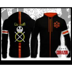 Toko Digizone Jaket Anime Hoodie Zipper One Piece Trafalgar Law Corazon Ja Op 13 Best Seller Black Digizone Online
