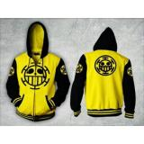 Spesifikasi Digizone Jaket Anime Hoodie Zipper One Piece Trafalgar Law Ja Op 03 Best Seller Yellow Black Yang Bagus Dan Murah