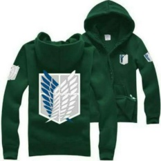 Digizone Jaket Anime Hoodie Zipper SNK Attack on Titan AoT (JA SNK 03) Best Seller - Green