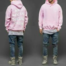 Digizone Jaket Sweater Hoodie Anti Social Social Club Unisex Best Seller - Pink