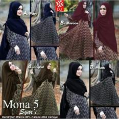 Diskon Mona 5 Syari Baju Muslim Gamis Pesta Mewah Maxi Terbaru Murah