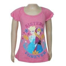 Disney  Frozen Elsa & Anna T-Shirt Pink