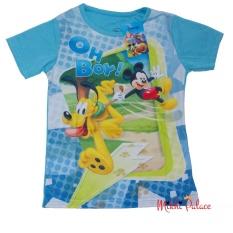 Disney Original T-shirt Mickey & Pluto (L. Blue)