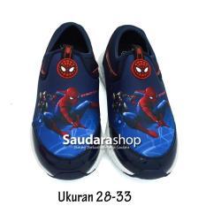 Disney Sepatu Anak Spiderman / Sepatu Running Spiderman / Sepatu Casual Spiderman [28-33]