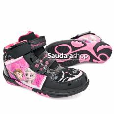 Beli Disney Snow Bros Sepatu Frozen Boots Hitam Pink 28 33 Sepatu Anak Frozen Hitam Pink Indonesia