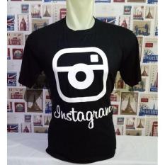 Disro Collection - Kaos T-Shirt Instagram - Kaos Cewe Cowo All Size 100% soft Spandex Rayon Kaos hitam - Putih - Biru Dongker
