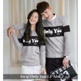 Beli Distributor Baju Online Kemeja Couple Murah Baju Couple Strip Only You Lp Abu Online Terpercaya
