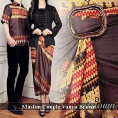 Distributor  Couple Muslim - Baju Muslim Online - Muslim Couple Vanya Brown