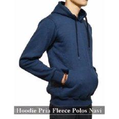 Distributor Jaket Murah - Sweater Hoodie  Online - Jumper Hoodie Pria Polos Navi Fleece