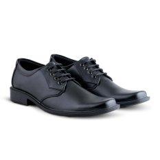 Sepatu VD 369 Sepatu Formal Pria Pantofel Untuk Kerja Kantor Kulit Sintetis - Hitam