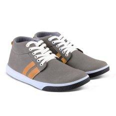 Distro Bandung VR 066 Sepatu Boot Casual Pria Sneaker - Abu komb