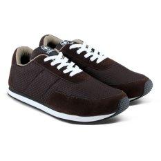 Distro Bandung VR 092 Sepatu Sneaker Olahraga Lari dan Joging - Coklat