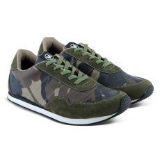 Distro Bandung VR 096 Sepatu Sneakers Olahraga Lari dan Joging - Army