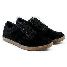 Distro Bandung VR 144 Sepatu Kets Kasual dan Sneaker Pria Terbaru - Hitam