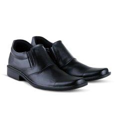 Sepatu VR 390 Sepatu Formal Pria Untuk Kerja Kantor Kulit Sintetis - Hitam