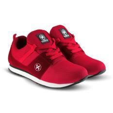 Sepatu VR 412 Sepatu Sneakers Kets dan Kasual Pria bisa untuk olahraga lari joging santai - merah