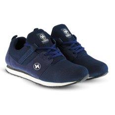 Distro Bandung VR 413 Sepatu Sneakers Kets dan Kasual Pria bisa untuk olahraga lari joging santai - Navy