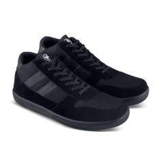 Sepatu DB 483 Sepatu Sneakers Kets Boot dan Kasual Pria utk sekolah, kuliah, kerja, jalan - Hitam