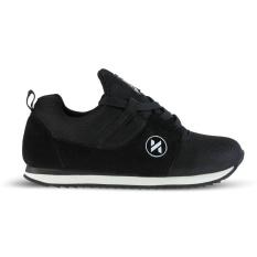 Distro DS 418 Sepatu Sneakers Anak Laki Perempuan untuk sekolah, jalan, santai, olahraga, joging - Hitam