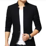 Spesifikasi Distro Fashion Blazer Pria Collar One Button Black Murah Berkualitas