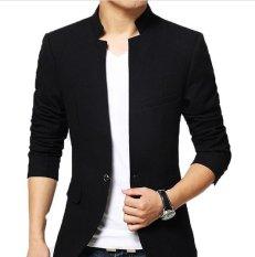 Ulasan Lengkap Distro Fashion Blazer Pria Collar One Button Black