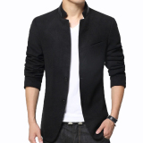 Jual Distro Fashion Blazer Pria Double Button Slim Fit Black Branded Murah