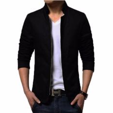Jual Distro Fashion Jas Jaket Pria Casual Zipper Stylish Dfn 08 Hitam