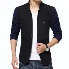 Spesifikasi Distro Fashion Jas Pria Formal Double Button Kombinasi Navy Lengkap