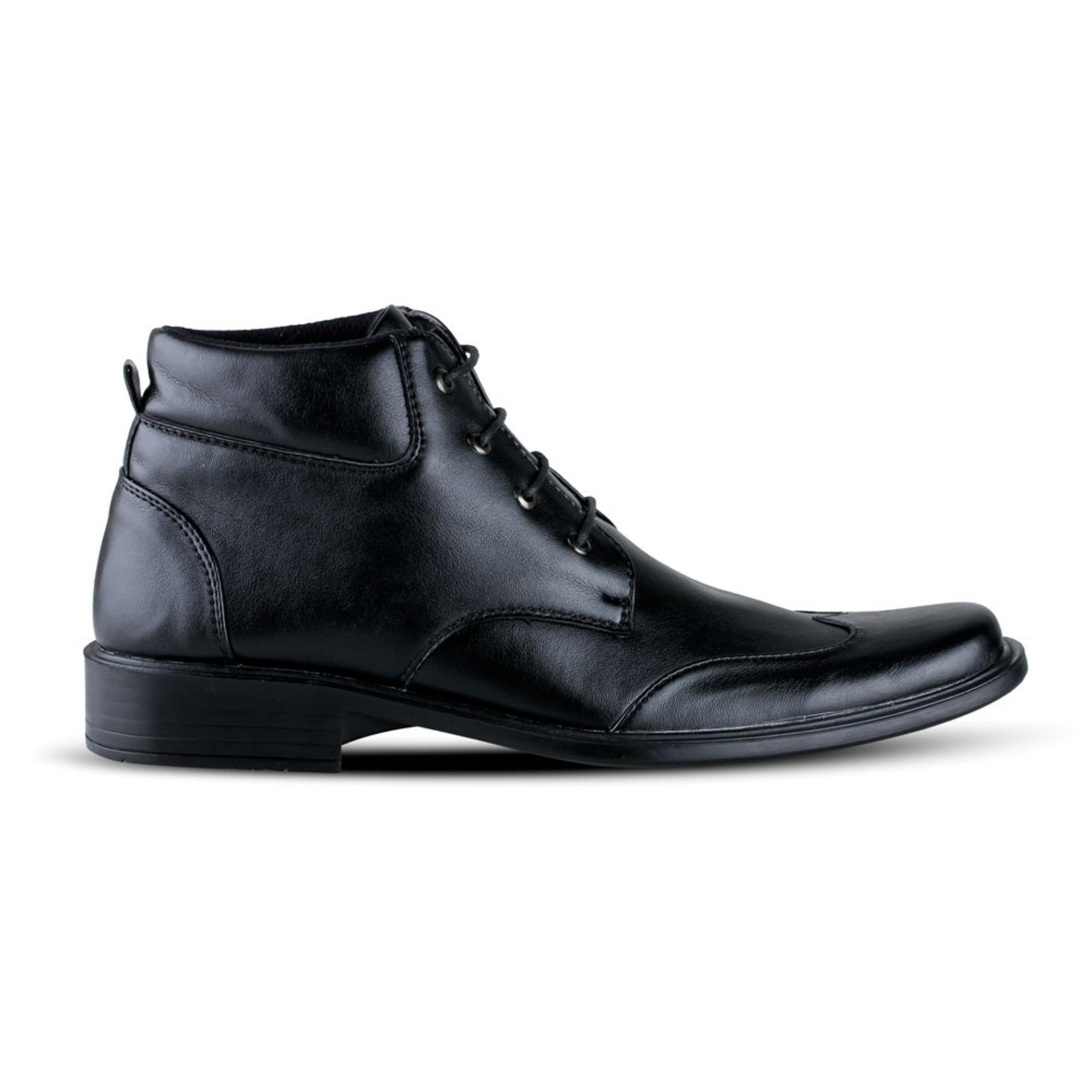 Detail Gambar Distro VD 396 Sepatu Formal Pantofel Pria Untuk Kerja Kantor - Hitam Terbaru