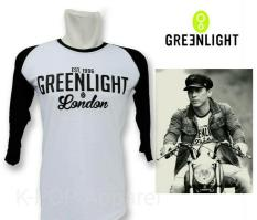 Distro/Kaos/Baju/Raglan/EST 1996 GREENLIGHT LONDON