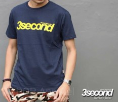 Distro/Kaos/Baju/T-Shirt/3SECOND YELLOW FLOCKING SERIES