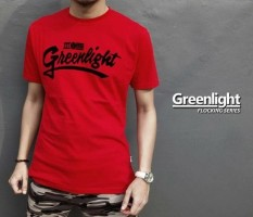 Distro/Kaos/Baju/T-Shirt/GREENLIGHT RED FLOCKING SERIES