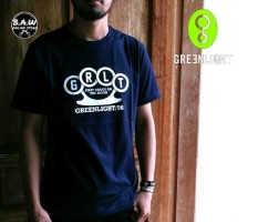 Distro/Kaos/Baju/T-Shirt/GRLT GREENLIGHT NAVY