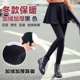 Beli Legging Tambah Beludru Musim Gugur Dan Dingin Rok Celana Elastis Pakaian Luar Hitam Baju Wanita Celana Wanita Cicilan