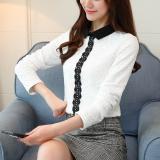 Toko Ditambah Beludru Perempuan Stand Up Kerah Tebal Mantel Hangat Kemeja Primer 8012 Ditambah Beludru Putih Terlengkap Tiongkok