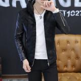 Jual Jaket Slim Pria Gaya Korea Ditambah Beludru Hitam Ditambah Beludru Hitam Online