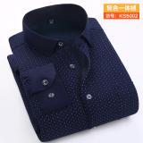 Diskon Produk Ditambah Beludru Tebal Pria Setengah Baya Kemeja Lengan Panjang Yang Hangat Baju Kemeja Ks5002 Baju Atasan Kaos Pria Kemeja Pria