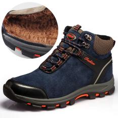 Harga Ditambah Kapas Hangat Army Kait Laki Laki Sepatu Boot Sepatu Bot Musim Dingin Ditambah Katun Biru Sepatu Pria Sepatu Safety Sepatu Boots Pria Oem Ori